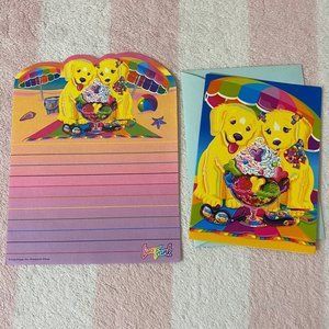 Lisa Frank Puppies Beach Stationery & Card Set